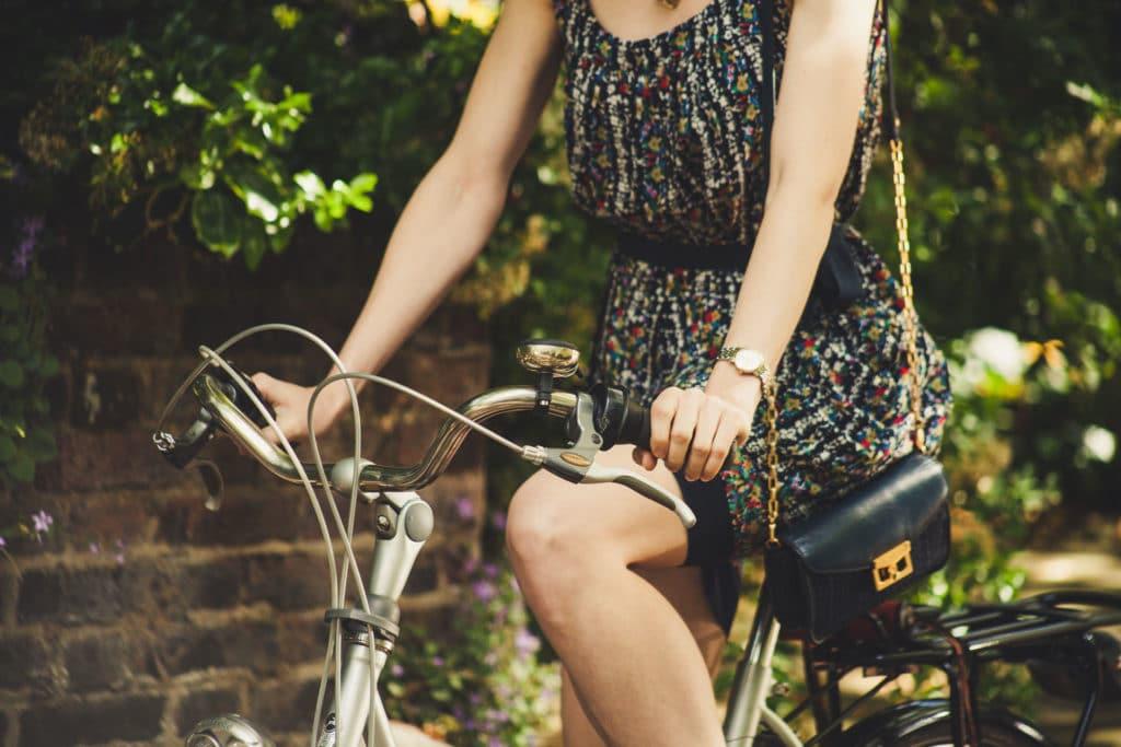 agathe en vélo