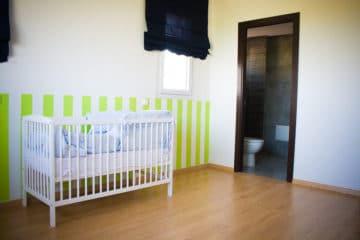 chambre du bébé dans le projet de construction