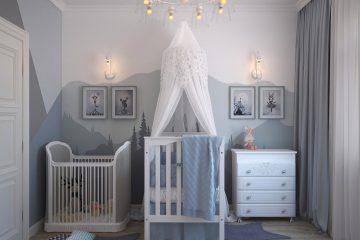 chambre de bébé décorée